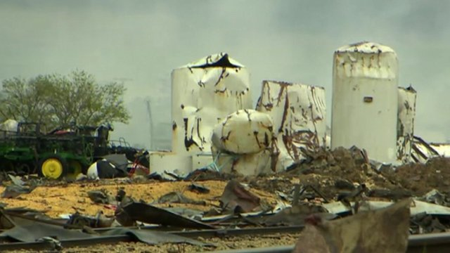 Damage caused by Waco fertilizer plant explosion