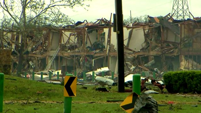 Texas buildings destroyed by blast