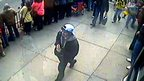 Suspect in white cap in Boston bombing