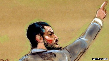 Court sketch of Mohammad Salameh
