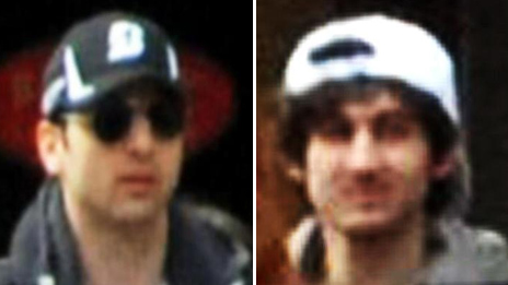 FBI photos of two suspects in bombing case