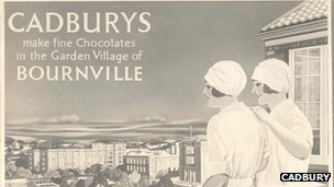 Illustrated Cadbury advert from 1930s. Image courtesy of Cadbury