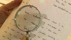 Hugh Scofield has his handwriting analysed
