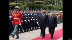 South Africa's President Jacob Zuma and Algeria's leader Abdelaziz Bouteflika walking past a guard of honour in Algiers, Algeria - Monday 15 April 2013