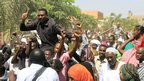 People carry freed prisoners on their shoulders in Khartoum, Sudan - Wednesday 17 April 2013