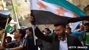 Syrian demonstrators