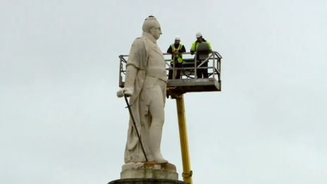 Lord Hill statue safety inspection