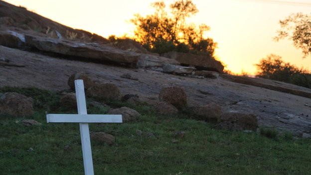 A cross at Marikana