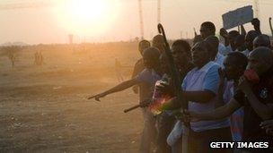 Miners at Marikana