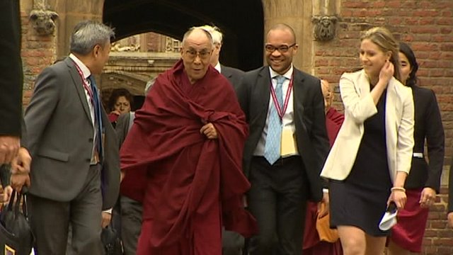 Dalai Lama in Cambridge