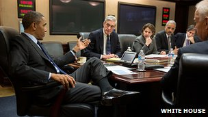 Barack Obama in the situation room