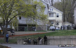 US law enforcement personnel in Watertown, Boston, 19 April