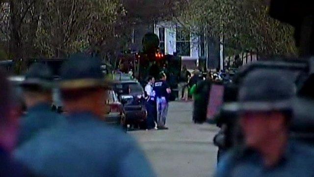 Police in Boston in Watertown