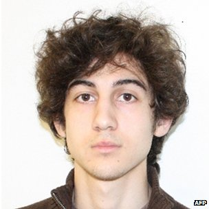 Undated photo of Dzhokhar Tsarnaev