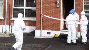 A forensic team examined the scene where the man died