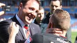 Malky Mackay celebrates with Craig Bellamy
