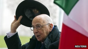 Giorgio Napolitano. Photo: February 2013