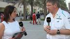 Lee Mckenzie and Mercedes boss Ross Brawn
