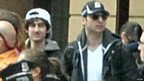 Image released by FBI of suspects in the Boston Marathon bombings on 15 April 2013