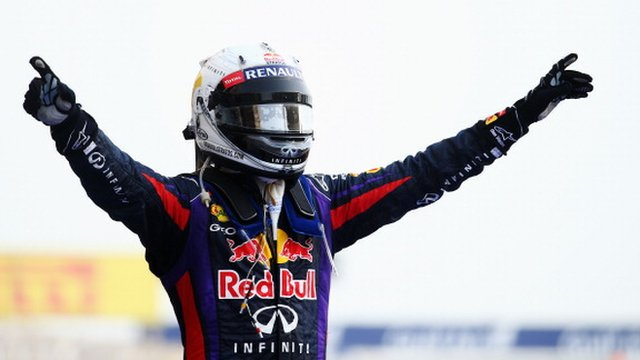 Red Bull's Sebastian Vettel wins the Bahrain Grand Prix