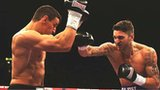 Nathan Cleverly throws a right punch at Robin Krasniqi