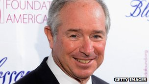 Blackstone boss Stephen A Schwarzman (file)