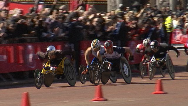 London Marathon men's wheelchair race