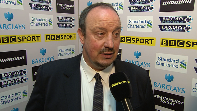 Rafael Benitez speaks after Liverpool game