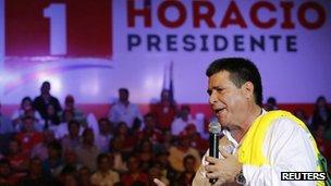 Elected President Horacio Cartes