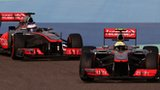 Jenson Button and Sergio Perez compete at the Bahrain GP