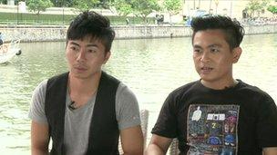 Hiro Mizuhara and Noel Ng