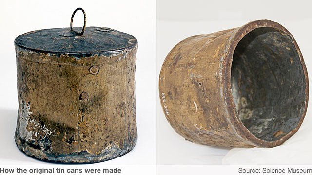 How the first tin cans were made