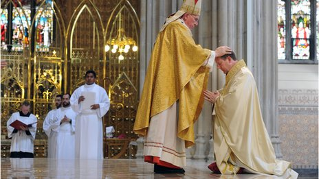 Monsignor Martin was ordained at St Patrick's Cathedral in Armagh on Sunday