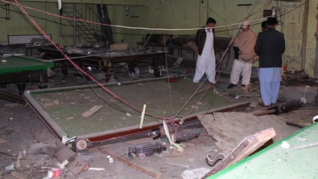 Snooker hall where suicide bomber detonated bomb in January 2013