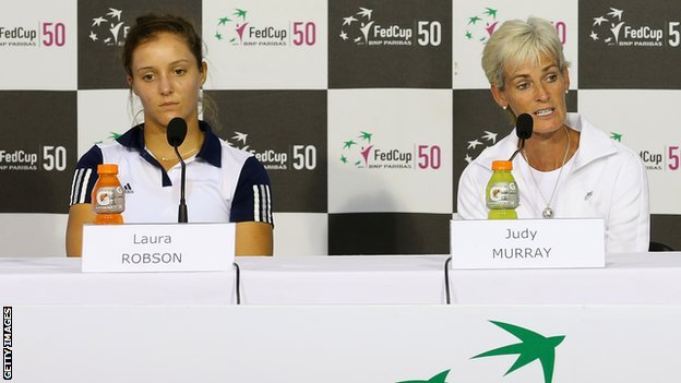 Laura Robson (left) and Judy Murray