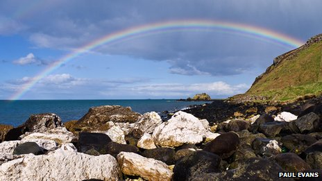 Ballygally rainbow - by Paul Evans