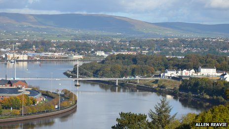 River Foyle spring sunshine - by Allen Reavie