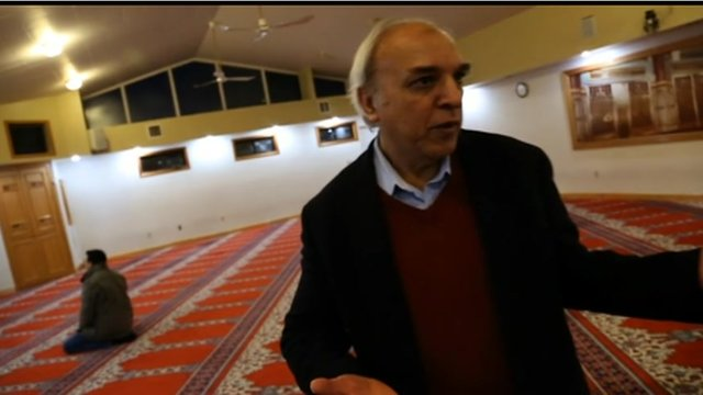 Anwar Kazmi in the mosque where Tamerlan Tsarnaev worshipped