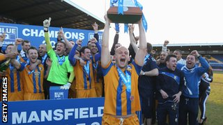 Mansfield celebrate promotion