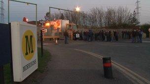Protestors at Morrisons