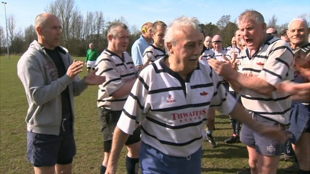 Keith Brierley is cheered off at the end of his last match for Preston Grasshoppers