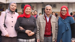 Shaimaa Khalil also visited her old school in Alexandria