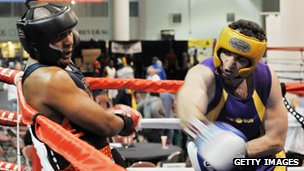 Tamerlan Tsarnaev in a boxing match