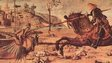 A painting of George killing a dragon by Vittore Carpaccio