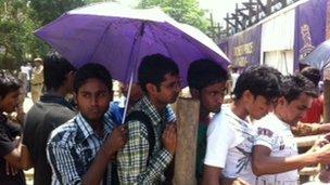 Fans at Eden Gardens
