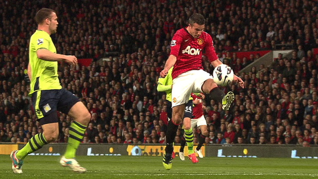 Robin Van Persie volley seals Man Utd Premier League title
