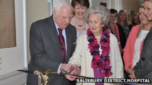Sir Christopher and Lady Benson at SDH
