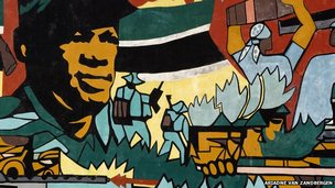 Revolutionary mural in Maputo