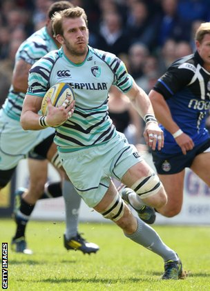 Leicester and England blind-side flanker