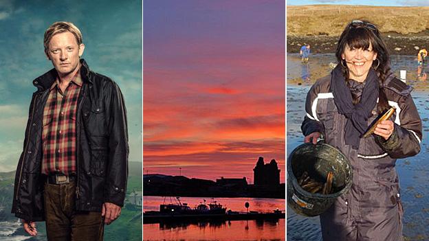 Douglas Henshall, Shetland sunset and Jane Moncrieff